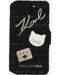 Karl Lagerfeld - Book Type Tweed With Pins - Lyst