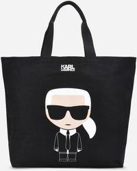 Karl Lagerfeld - K/ikonik Canvas Tote Bag - Lyst