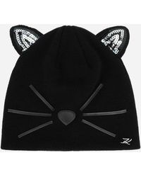 cb0736b7d4f Karl Lagerfeld - Choupette Sequined Beanie - Lyst