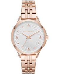 Karl Lagerfeld - Karoline Stainless Steel Link Bracelet Watch - Lyst