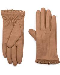 Karl Lagerfeld - Leather Scallop Stud Glove - Lyst