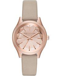 Karl Lagerfeld - Belleville Kaleidoscope Leather Strap Watch - Lyst