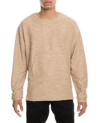 Publish - The Keyon Bib Collar Steppe Hem Sweater In Marled Tan - Lyst