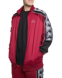 59f728ea1 Lyst - Kappa The 222 Banda Big Bay Jacket In Red; Black And White in ...