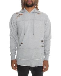 FBRK - Men's Ripped Layered Hoody - Lyst