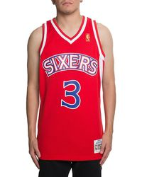 08c966a33 Lyst - Mitchell   Ness Nba Gold Iverson Jersey in Metallic for Men