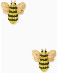 Kate Spade - Picnic Perfect Pave Bee Studs - Lyst