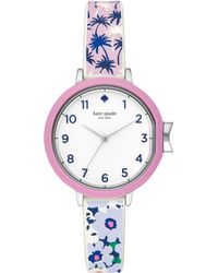 Kate Spade - Park Row Tropical Silicone Watch - Lyst