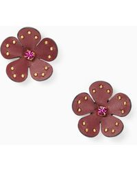 Kate Spade - Blooming Bling Leather Studs - Lyst