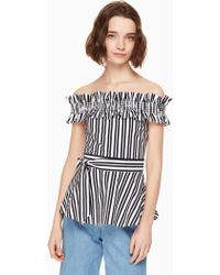 Kate Spade - Candy Stripe Top - Lyst