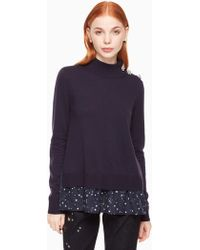 Kate Spade - Night Sky Mixed Media Jumper - Lyst