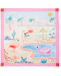 Kate Spade - Palm Springs Pool Silk Square Scarf - Lyst