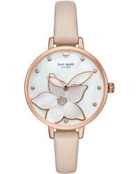 Kate Spade - Orange Flower Metro Watch - Lyst