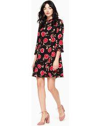 Kate Spade - Hazy Rose Crepe A-line Dress - Lyst