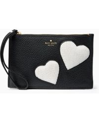 Kate Spade - On Purpose Mini Leather Heart Wristlet - Lyst