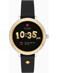 Kate Spade - Scallop Touchscreen Leather Smartwatch - Lyst