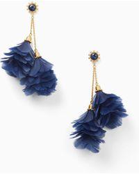 Kate Spade - In Full Feather Tassel Statement Earrings - Lyst