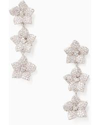 Kate Spade - Blooming Pave Bloom Linear Earrings - Lyst