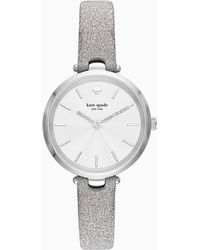 Kate Spade - Holland Three-hand Silver Fabric Watch - Lyst