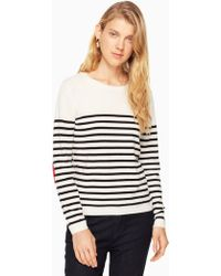 Kate Spade - Heart Patch Sweater - Lyst