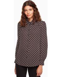 Kate Spade - Diamond Long Sleeve Shirt - Lyst