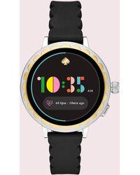 Kate Spade - Black Silicone Scallop Smartwatch 2 - Lyst