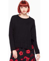 Kate Spade - Velvet Tie Swing Sweater - Lyst
