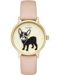 Kate Spade - Metro Grand Antoine Vachetta Leather Watch - Lyst