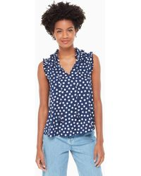 Kate Spade - Cloud Dot Tie Front Shell - Lyst