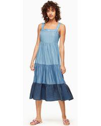 3737bd75faf04 kate spade new york. Kate Spade - Chambray Patio Dress - Lyst