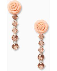Kate Spade - Artisanal Rose Linear Earrings - Lyst