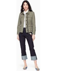 Kate Spade - Ruffle Army Jacket - Lyst
