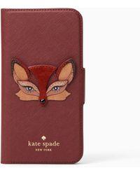Kate Spade - Fox Applique Folio - Lyst