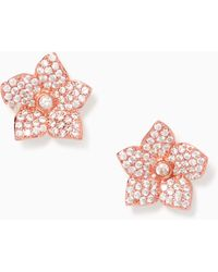Kate Spade - Blooming Pave Studs - Lyst