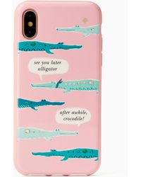 Kate Spade - Jewelled Alligator Iphone 7/8 Case - Lyst