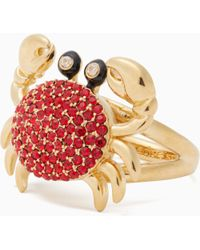 Kate Spade - Shore Thing Pave Crab Ring - Lyst