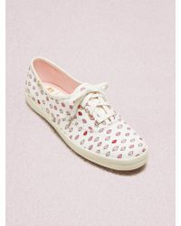1c51ac9fe6a8c Kate Spade Keds X Champion Gingham Sneakers in Blue - Lyst