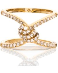 Kate Spade - Infinity & Beyond Pave Knot Ring - Lyst