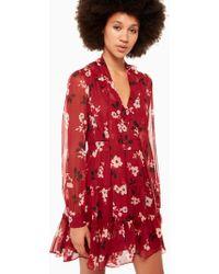 Kate Spade - Camelia Chiffon Mini Dress - Lyst