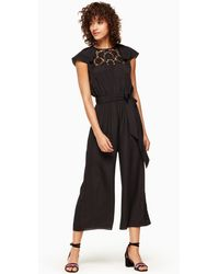Kate Spade - Lace Embroidered Jumpsuit - Lyst