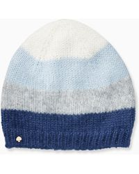 d6ed6f2a295 Kate Spade - Brushed Colorblock Beanie - Lyst