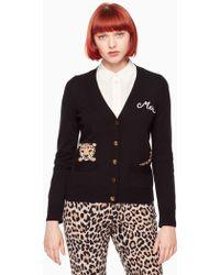 Kate Spade - Leopard Cardigan - Lyst