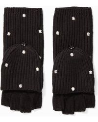 Kate Spade - Bedazzled Pop Top Gloves - Lyst