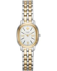 Kate Spade - Staten Two Gold-tone Stainless Steel Bracelet Watch - Lyst