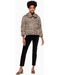 Kate Spade - Leopard-print Puffer Jacket - Lyst