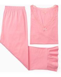 Kate Spade - Summer Sleep Short Sleeve Cropped Pj - Lyst