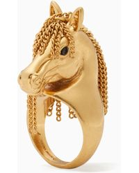 Kate Spade - Wild Ones Horse Ring - Lyst