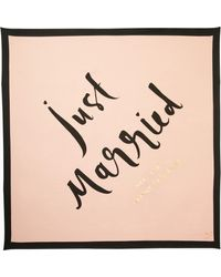 Kate Spade - Just Married Silk Square Scarf - Lyst
