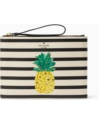 Kate Spade - By The Pool Pineapple Medium Bella Pouch - Lyst