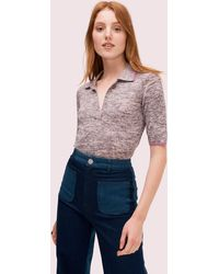 Kate Spade Fine Knit Polo Sweater - Black